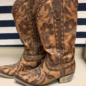 Leather Cowgirl Boots by Lane